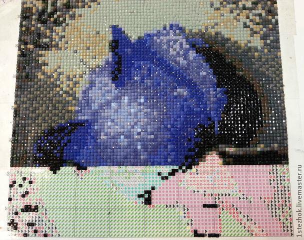 Алмазная мозаика процесс работы