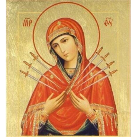 Алмазная вышивка икона Богородице Семистрельная