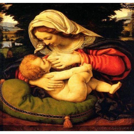 Алмазная вышивка  Богоматерь с младенцем