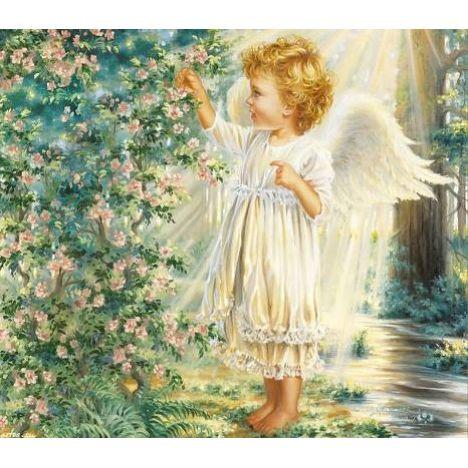 Алмазная вышивка Ангел в солнечных лучах