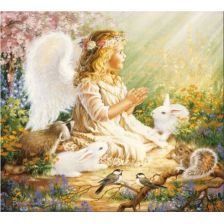 Ангелочек на солнечной полянке