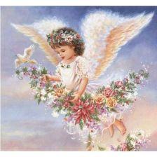 Ангелок с цветами