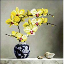 Набор для вышивки крестиком 3D Желтая Орхидея