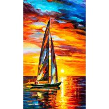 Яхта в лучах заката
