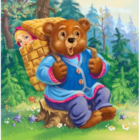 Алмазная вышивка набор  Сказка Маша и медведь