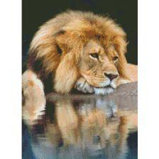 Алмазная вышивка Лев
