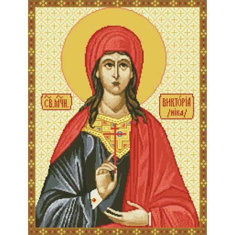 Алмазная вышивка  икона Св. Мученица Виктория - Ника