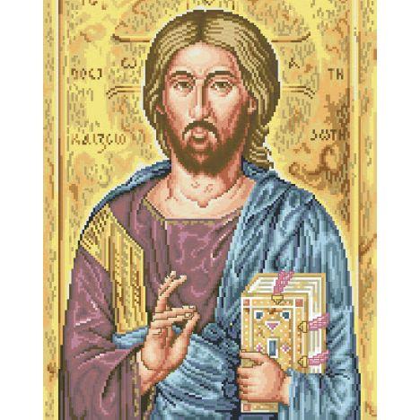 Алмазная вышивка  икона Иисус Христос