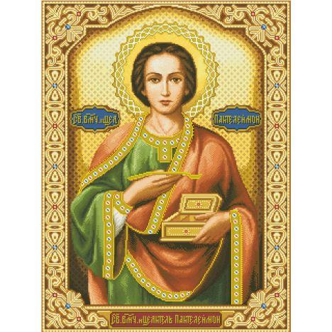 Алмазная вышивка  икона Пантелеймон Целитель