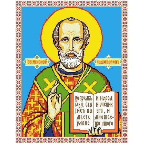 Алмазная вышивка  икона Св. Николай Чудотворец