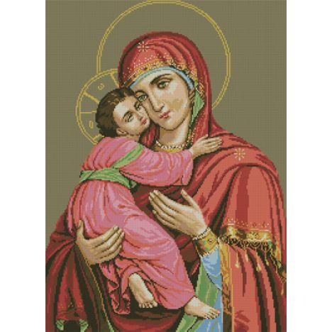 Алмазная вышивка икона Владимирской Божьей Матери
