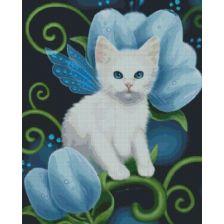 Алмазная вышивка набор Белый котенок