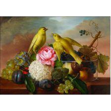Алмазная вышивка набор Букет с птичками