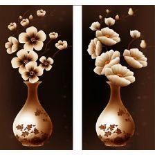 диптих Цветы в вазе