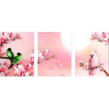 триптих Птицы на ветвях