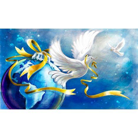 Алмазная вышивка набор Белые голуби