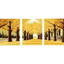триптих Осенняя аллея
