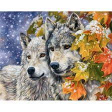 Алмазная вышивка набор Волки