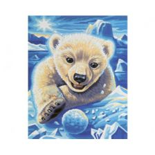 Алмазная вышивка набор Белый медвежонок