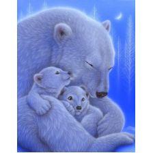 Алмазная вышивка набор Белые медведи