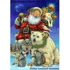 Санта с помощниками