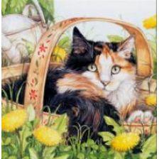 Алмазная вышивка набор Кошка в корзинке