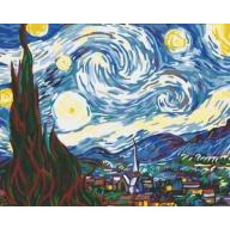 Алмазная вышивка набор Звездная ночь Ван-Гог
