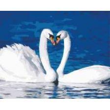 Алмазная вышивка набор Лебеди