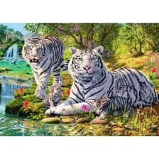 Алмазная вышивка набор Белые тигры