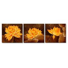 триптих Желтые цветы