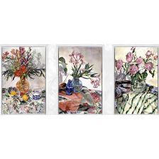 Алмазная вышивка Триптих Цветы