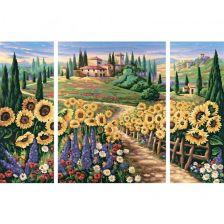 триптих Подсолнухи Испании
