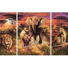 триптих Африканская саванна