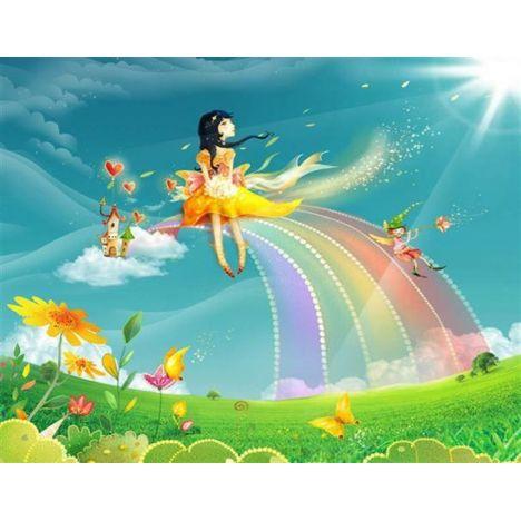 Алмазная вышивка набор  Вверх по радуге