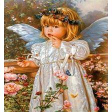 Ангелочек в цветах