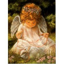 Ангелок с кроликом