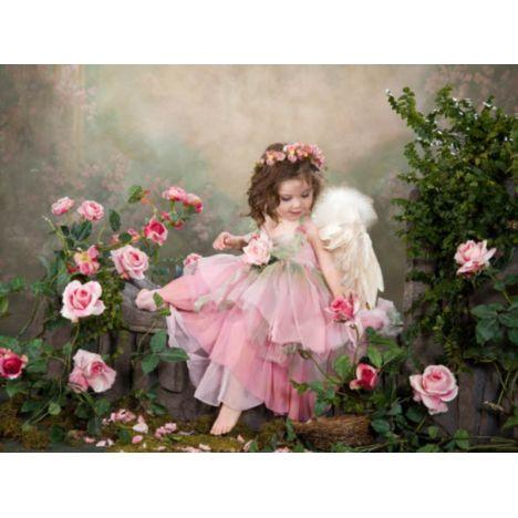 Алмазная вышивка Ангел в розах