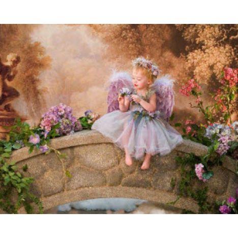 Алмазная вышивка Ангел на мостике