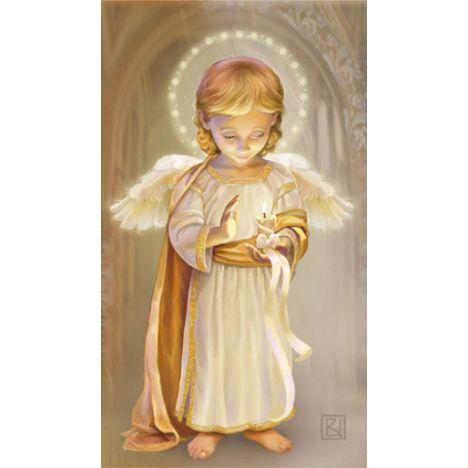 Алмазная вышивка Ангел со свечой