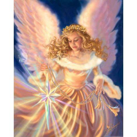 Алмазная вышивка Ангел с сияющей звездой