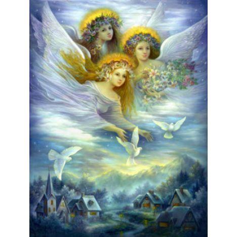 Алмазная вышивка Ангелы в небе