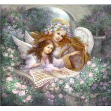Алмазная вышивка Ангел с лирой
