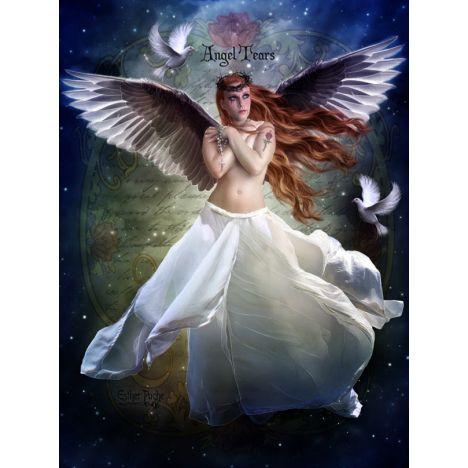 Алмазная вышивка Ангелы в небе ночном