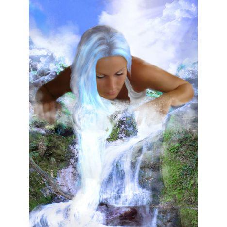Алмазная вышивка  Волосы водопада