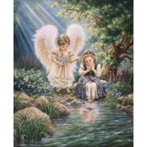 Алмазная вышивка Ангел у реки