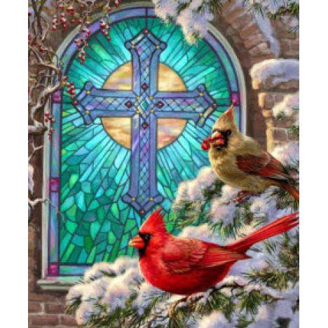 Алмазная вышивка набор Рождественские птицы