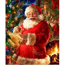 Санта пишет поздравление