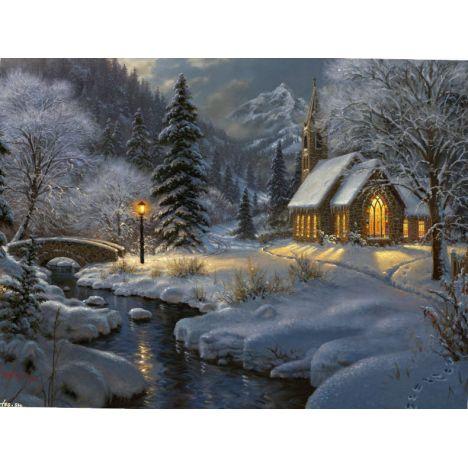 Алмазная вышивка набор В ожидание Рождества