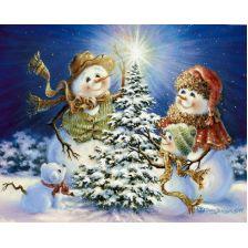 Новый год в семье снеговиков