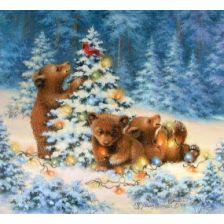 Новый год у медвежат